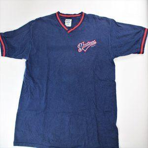 New York Yankees Vintage Embroidered V-neck Shirt